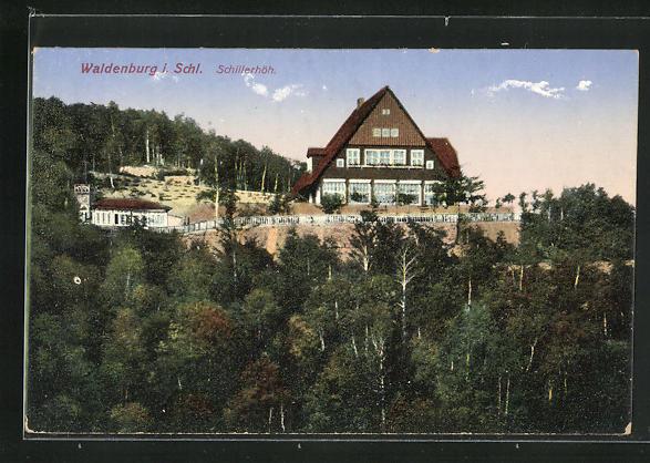 AK Waldenburg, Blick zur Villa Schillerhöh