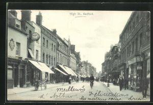 AK Bedford, Passanten und Geschäfte in der High Street