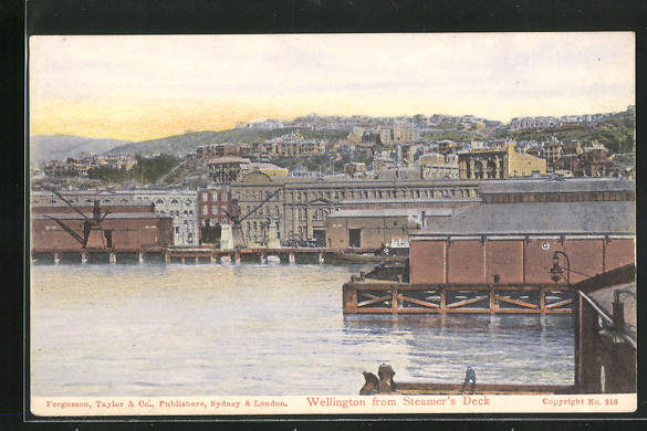AK Wellington, seen from Steamer` s Deck