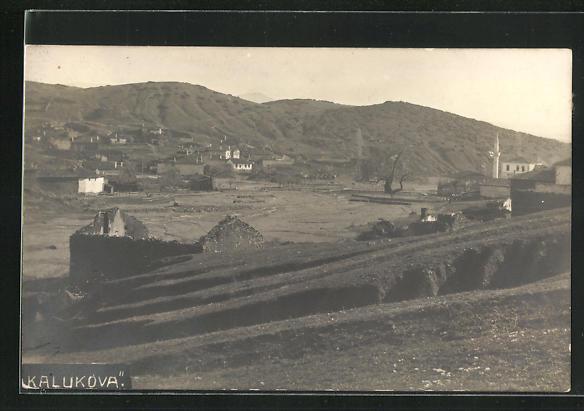 Foto-AK Kalukova, Panorama des Ortes