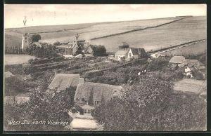 AK West Lulworth, Vicarage, Ortsansicht
