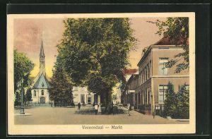 AK Veenendaal, Markt mit Kirche