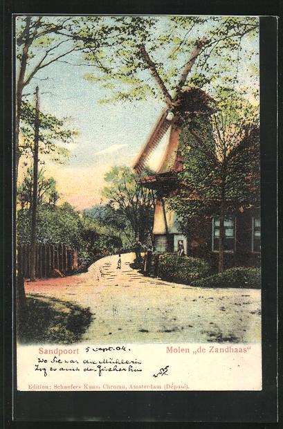 AK Sandpoort, Molen De Zandhaas, Windmühle