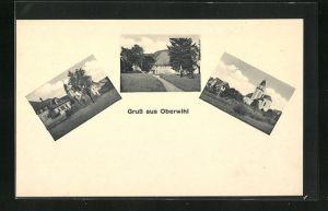 AK Oberwihl, verschiedene Partien aus dem Ort