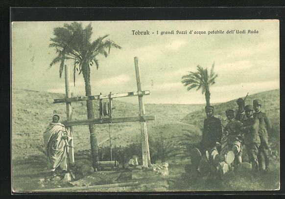 AK Tobruk, I grandi Pozzi d` Acqua potabile dell` Uadi Auda