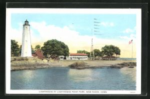 AK New Haven, CT, Lighthouse at Lighthouse Point Park