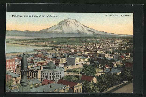 AK Tacoma, WA, Mount Tacoma and part of City