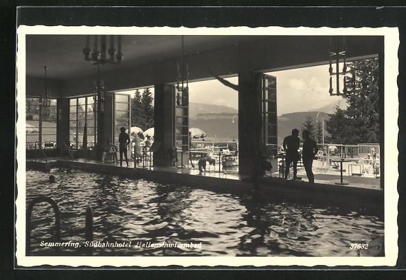 AK Semmering, Hallenschwimmbad im Südbahnhotel