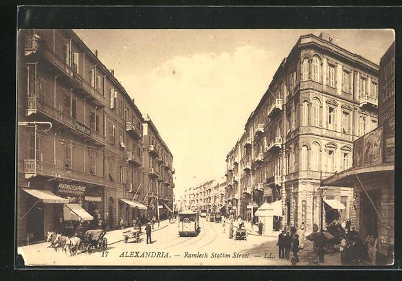 AK Alexandrie, Rue de la Gare de Ramlech