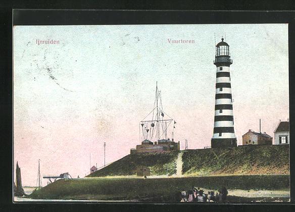 AK Ijmuidwen, Vuurtoren, Leuchtturm