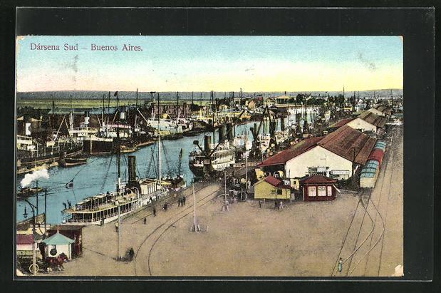 AK Buenos Aires, Dersena Sud, Partie am Hafen