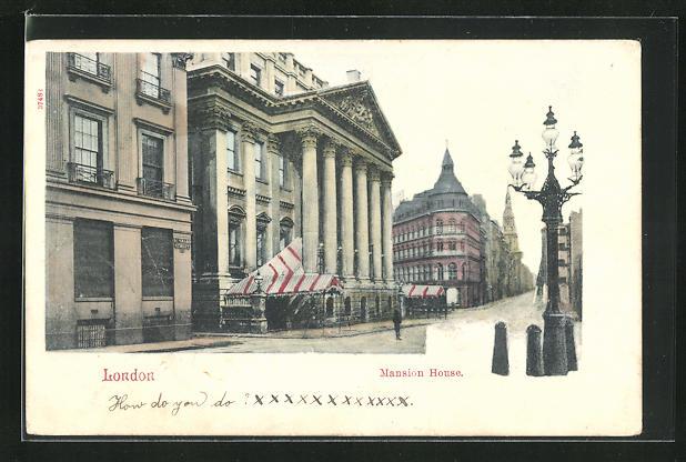 AK London, Mansion House, Ortspartie