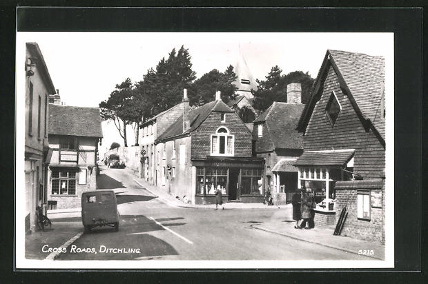 AK Ditchling, Cross road, Ortspartie