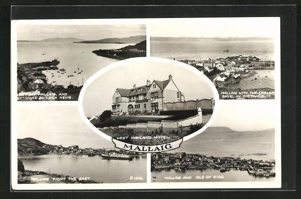 AK Mallaig, West Highland Hotel, Isle of Eigg, Ortsansicht