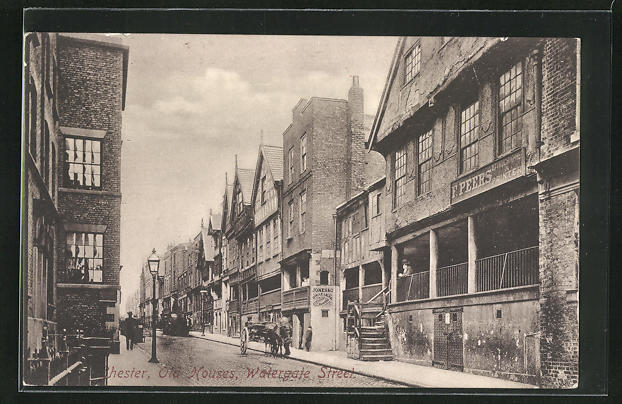 AK Chester, Old houses, Watergate street