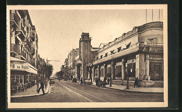AK Tunis, Avenue de Carthage et Casino, Strassenpartie