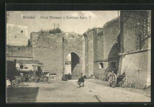 AK Brindisi, Porta Mesagne e Torrione Carlo V.