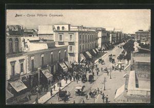 AK Bari, Corso Vittorio Emanuele, Strassenansicht mit Geschäften