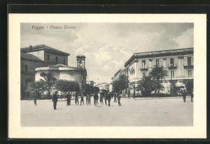 AK Foggia, Piazza Cavour, Platzansicht