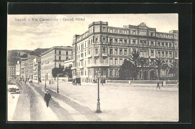 AK Napoli, Grand Hotel, Via Caracciolo
