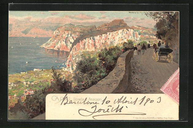 Lithographie Capri, Strada di Anacapri