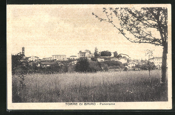 AK Torre di Bairo, Blick über Felder auf den Ort