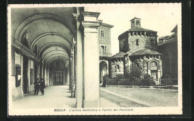 AK Biella, L`antico Battistero e Portici del Municipio