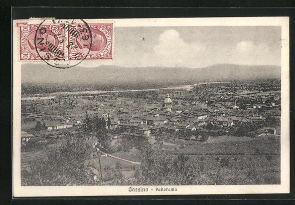 AK Gassino, Panoramablick auf das Dorf