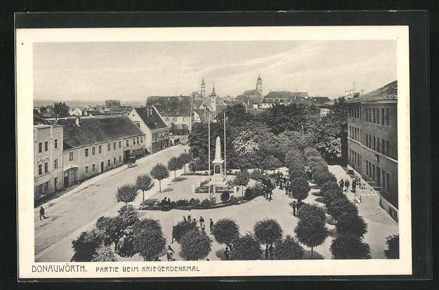 AK Donauwörth, Partie beim Kriegerdenkmal