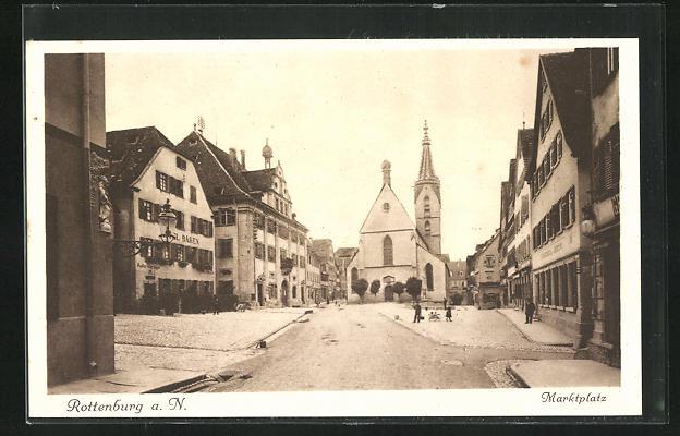 AK Rottenburg a. N., Marktplatz