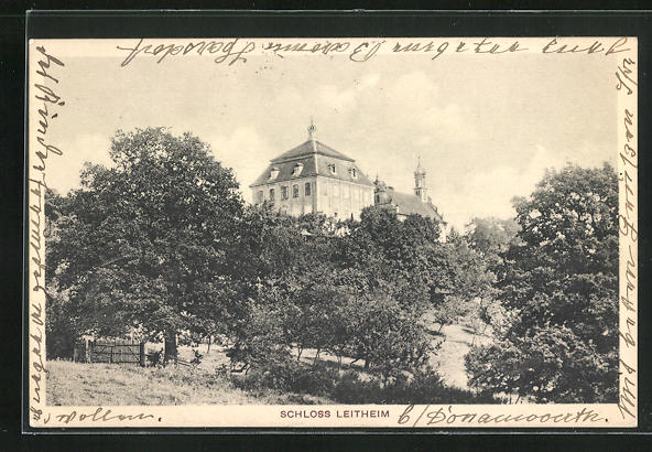 AK Kaisheim, Blick auf das Schloss Leitheim
