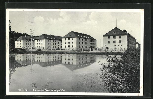 AK Ansbach, Kaserne auf der Ludwigshöhe