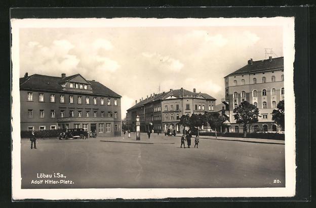 AK Löbau i. Sa., Adolf--Platz