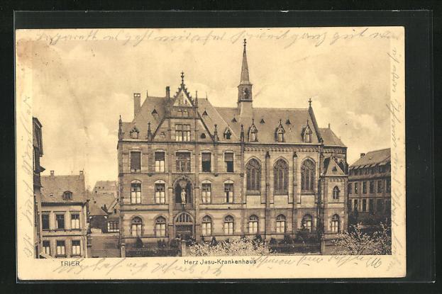 AK Trier, Herz-Jesu-Krankenhaus, Hauptfassade