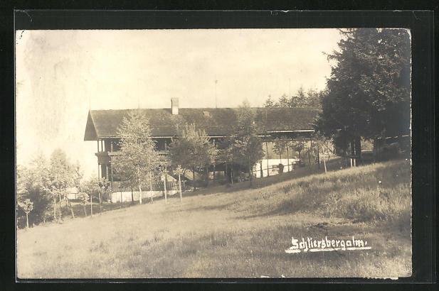 AK Schliersee, Gasthaus Schliersbergalm, Seitenansicht