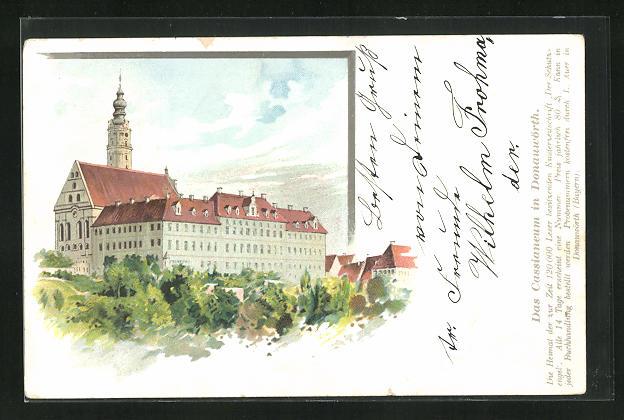 AK Donauwörth, Cassianeum, Eckfassade