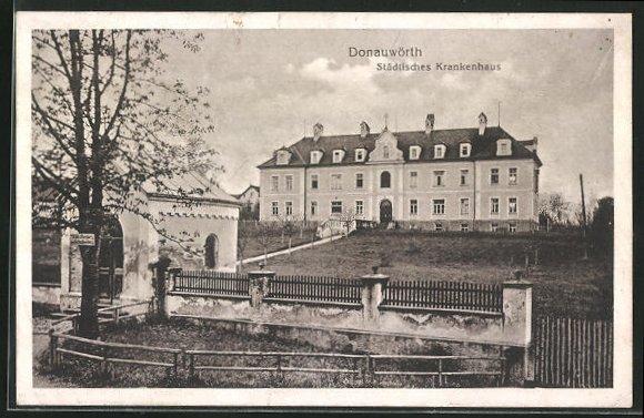 AK Donauwörth, Städtisches Krankenhaus mit Eingang