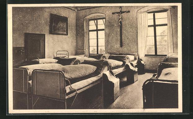 AK Donauwörth, Institut hlg. Kreuz Cassianeum, Schlafsaal