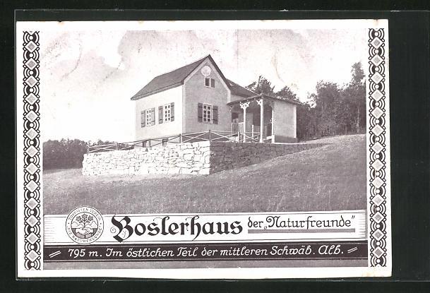 AK Gruibingen, Bosslerhaus der Naturfreunde, Eckfassade