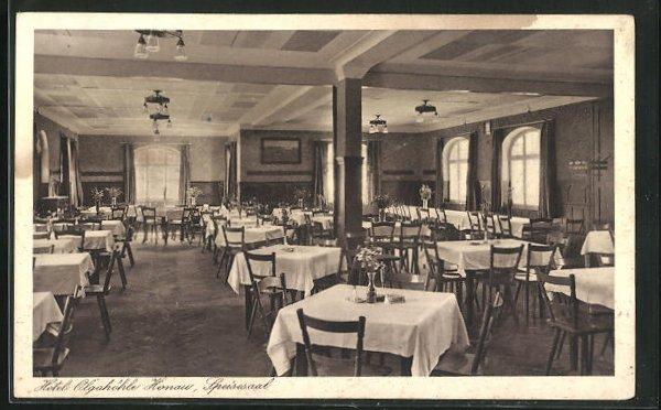 AK Honau / Schwäb. Alb, Hotel Olgahöhle, Speisesaal