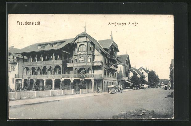 AK Freudenstadt, Strassburger-Strasse, Hotel Rappen