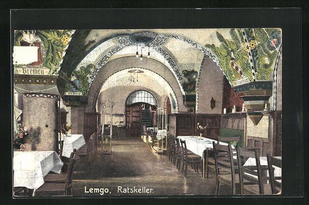 AK Lemgo, Gasthaus Ratskeller, Gewölbe