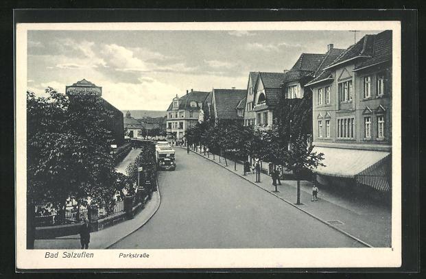 AK Bad Salzuflen, Parkstrasse mit Villen