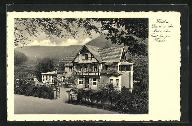 AK Kohlstädt i. Lippe, Hotel Bärental im Teutoburger Wald