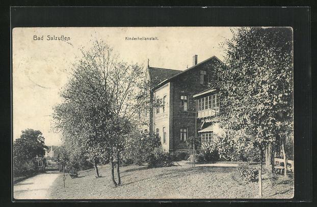 AK Bad Salzuflen, Kinderheilanstalt, Eckfassade