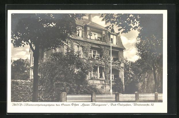 AK Bad Salzuflen, NSV-Müttererholungsheim des Gaues Essen Haus Margarete, Wüstenerstrasse 12