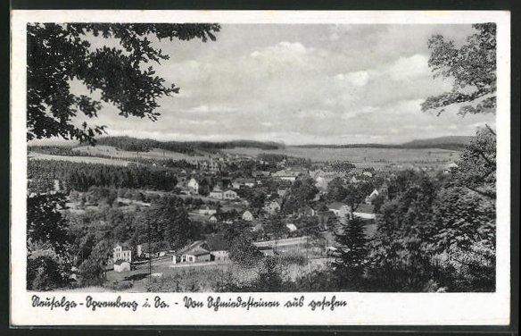 AK Ebernburg, Blick vom Berg auf den Ort