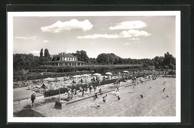 AK Bad Neuenahr, Schwimmbad und Terrassen-Cafe
