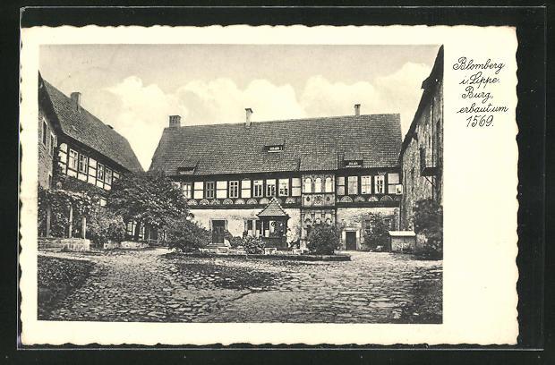 AK Blomberg / Lippe, Burg und Burghof