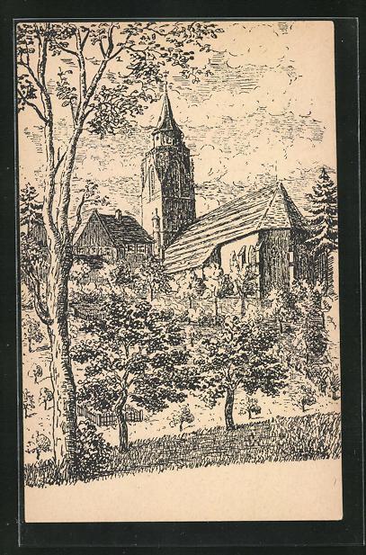 AK Dornstetten im Schwarzwald, Stadtkriche von Osten